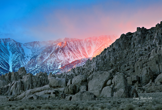Sunrise in the Eastern Sierra Nevadas