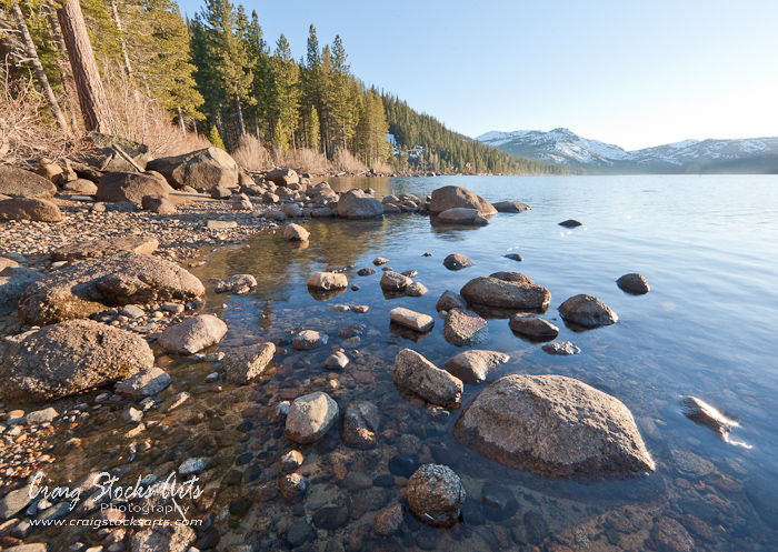 Donner Lake - just before sunset