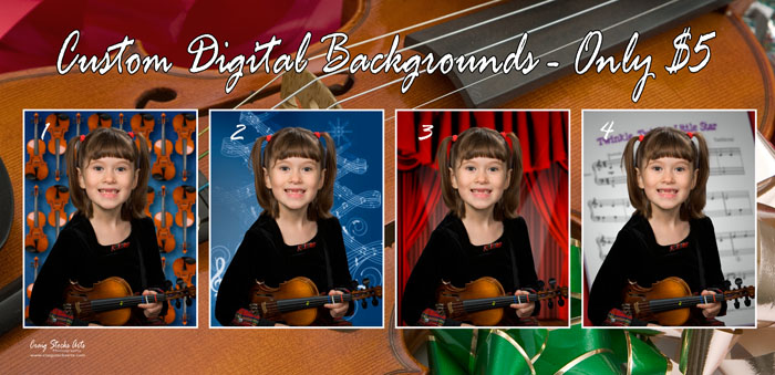 Digital background samples