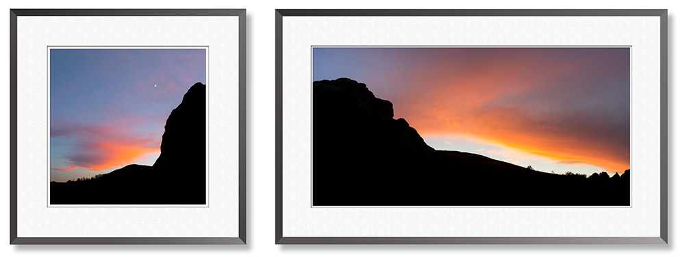 Sunset diptych from the City of Rocks in Idaho by fine art photographer Craig Stocks