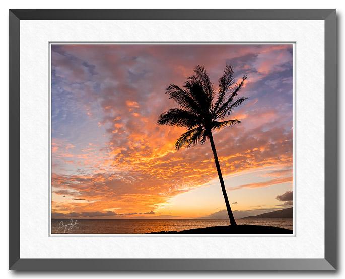 Sunset at the beach on Maui, Hawaii, fine art landscape photo by Craig Stocks