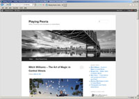 Playing Peoria website